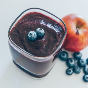 Cannabis infused blueberries smoothie