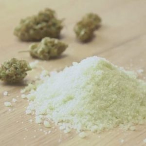 Homemade Cannabis sugar from THC tincture