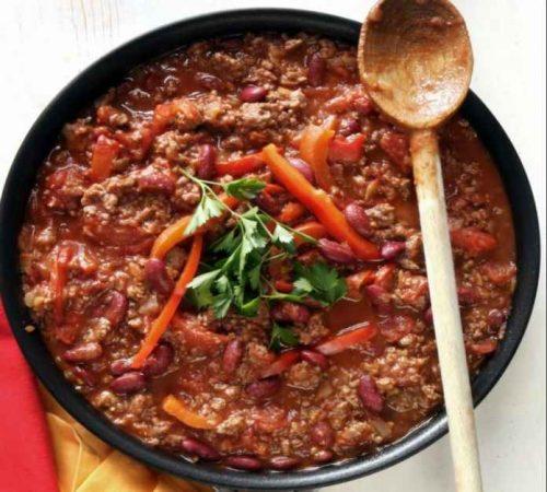Cannabis chili con carne for a spicy cannabis edible