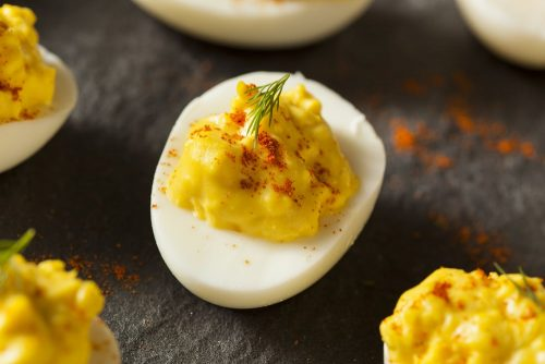 Cannabis deviled eggs for wake and bake breakfast