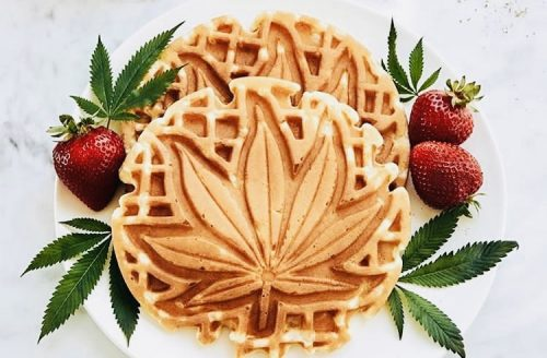 Cannabis infused Belgian breakfast waffles