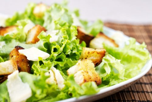 Cannabis infused caesar salad recipe