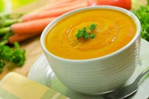 Cannabis infused carrot and ginger soup