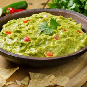 Cannabis infused guacamole with cannabis oil
