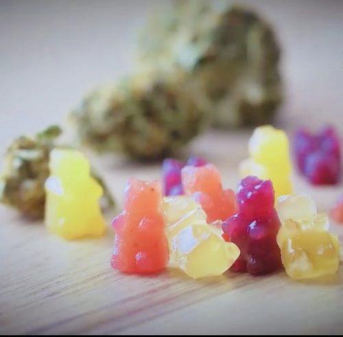 Cannabis THC gummy bears for fibromyalgia