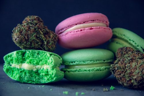 Homemade weed infused macarons edibles