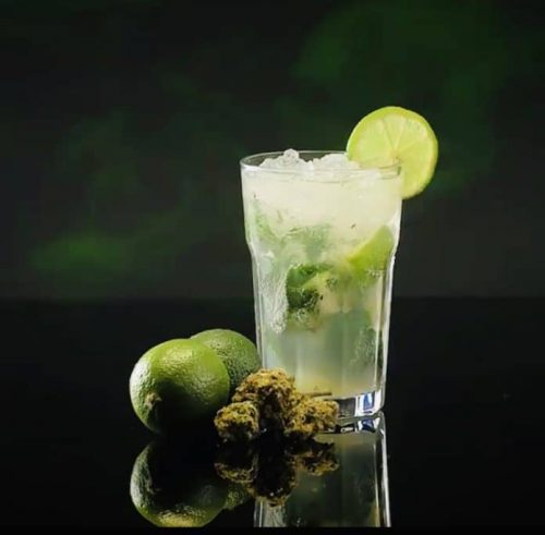 Cannabis mojito made from THC infused rum