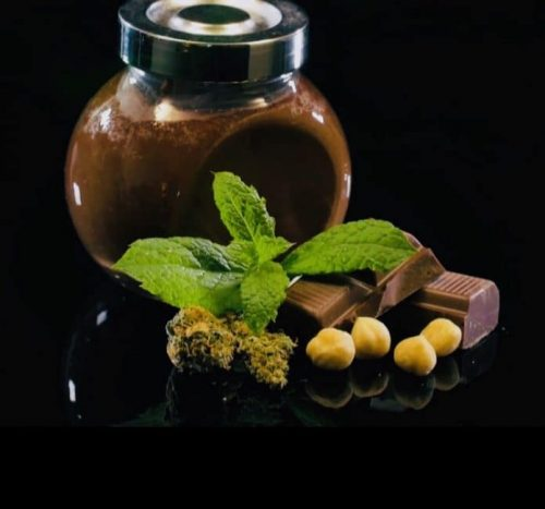 Cannabis infused Chocolate Nutella with hazelnuts and THC