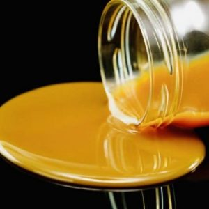 Homemade cannabis infused salted caramel sauce