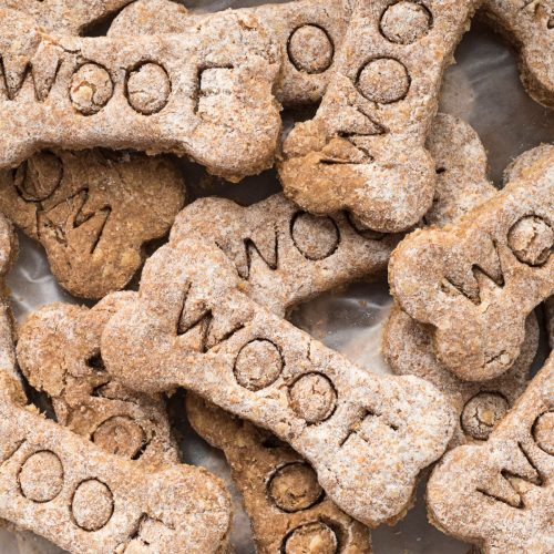 Homemade CBD peanut butter dog treat recipe