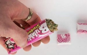 Weed infused bubble gum recipe made with cannabis sugar