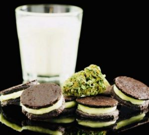 Homemade cannabis Oreo cookies made from scratch