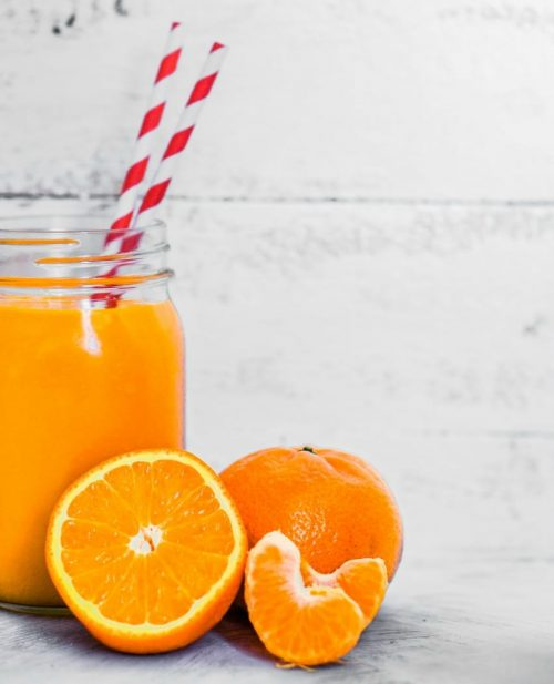 Cannabis orange smoothie juice