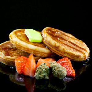 Cannabis infused stuffed pancakes