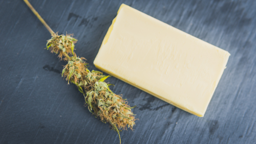 Cannabis CBD butter from marijuana flower