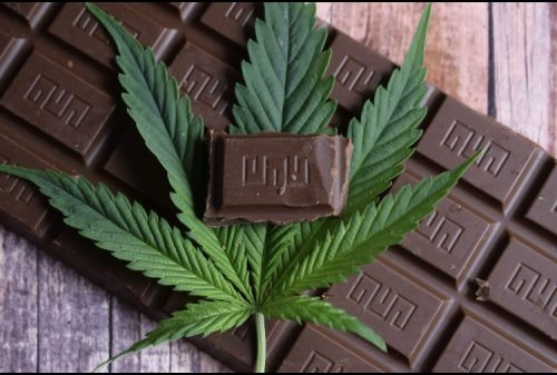 Cbd infused chocolate bar recipe with marijuana leaf
