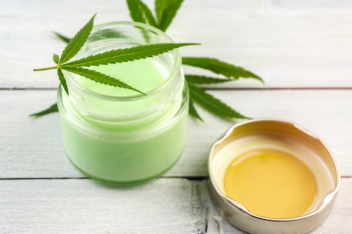 CBD oil used in beauty