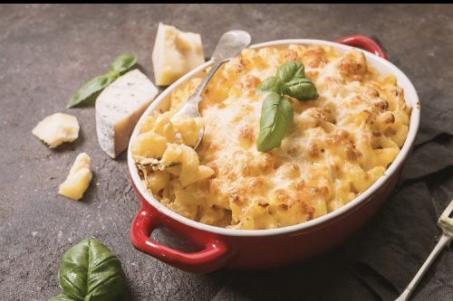 Weed infused baked mac and cheese