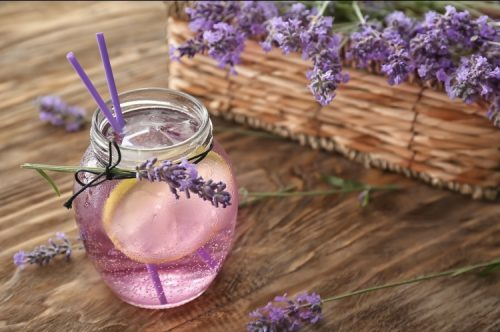 THC and CBD infused lavender lemonade