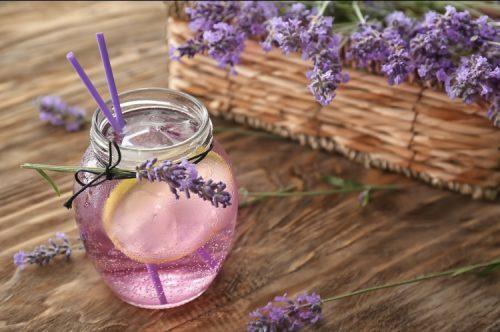 THC and CBD infused lavender lemonade