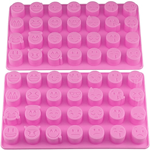 Sillicone mold for candies and baking to create emoji face edibles