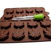 Marijuana leaf mold for chocolates and gummies