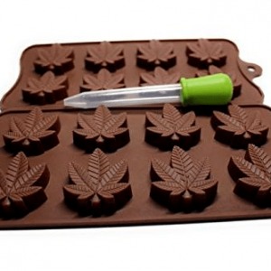 Marijuana leaf mold for chocolates and gummies