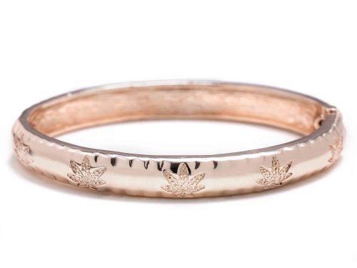 Rosegold cannabis arm bracelet