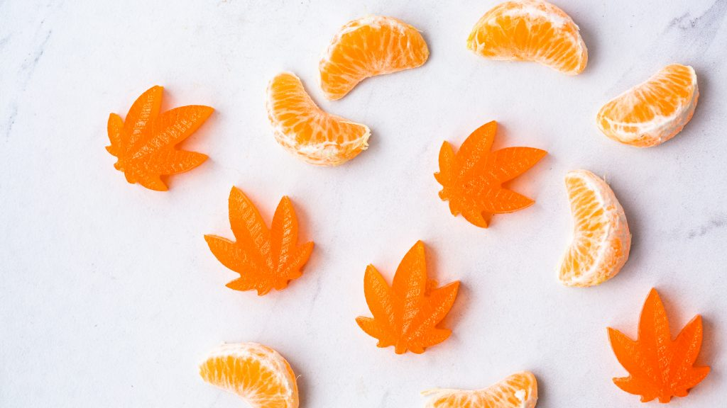 orange flavor weed candies