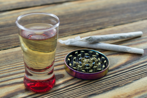 Cannabis infused vodka for weed cocktails or canna-shots