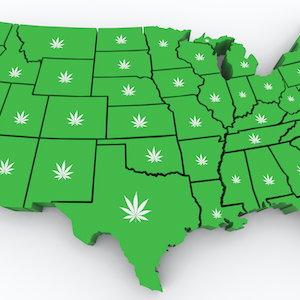 US Cannabis Legalization, Weed map of the US