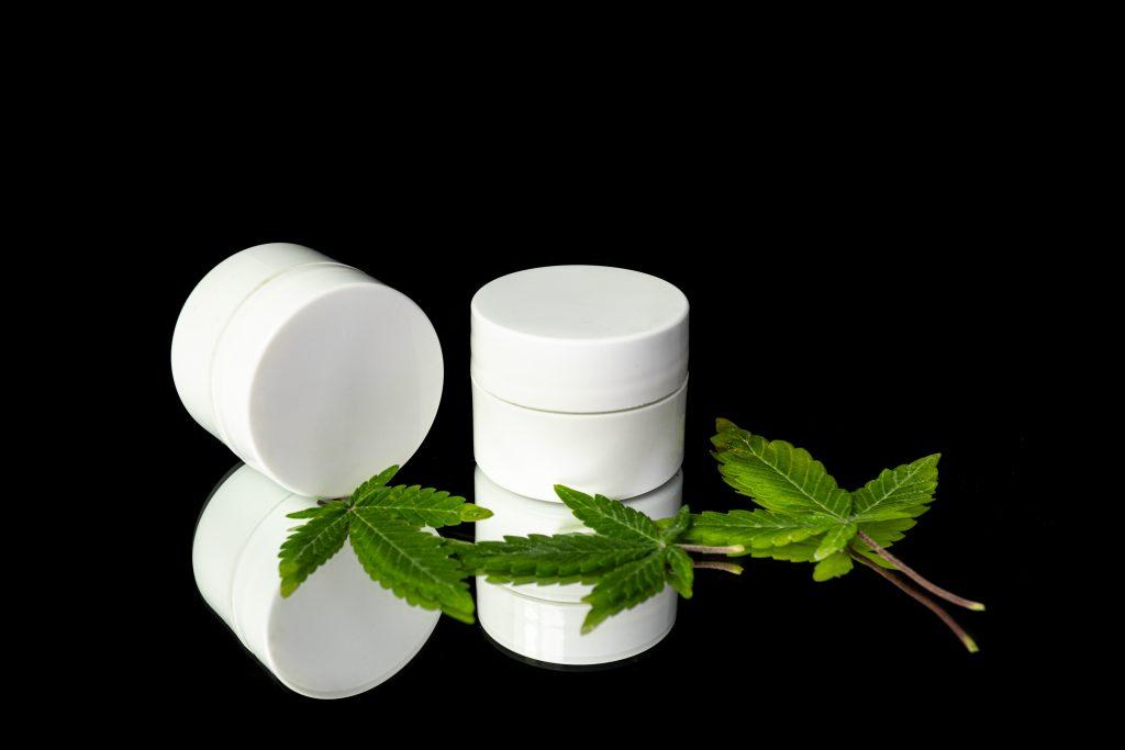 cbd skin cream in jars