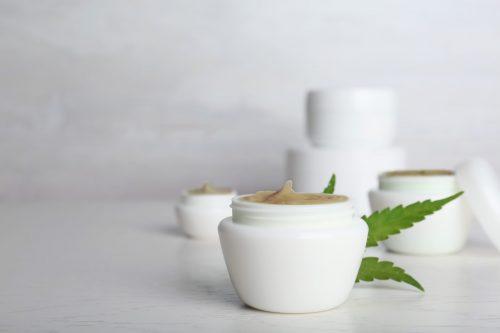 hemp skin care product in jars