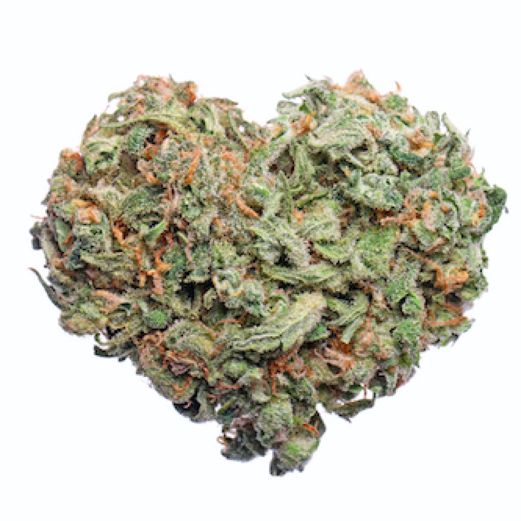marijuana shaped into a heart
