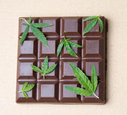 CBD infused chocolate bar
