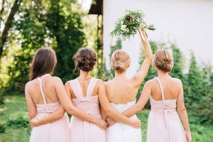 bridal party for a weed wedding