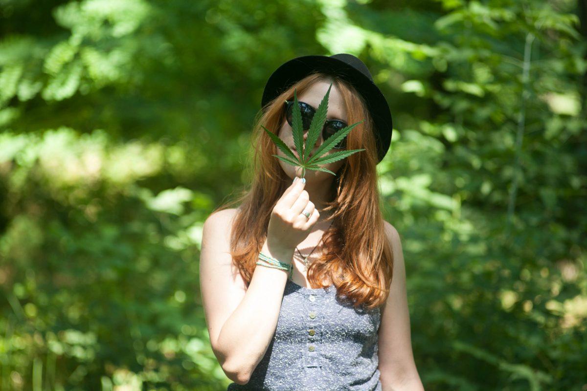 model that represents cannabis beauty