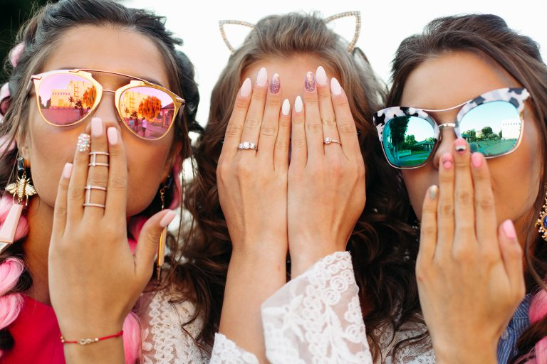 three ladies with manicures