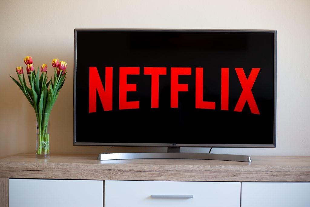 Netflix playing on tv