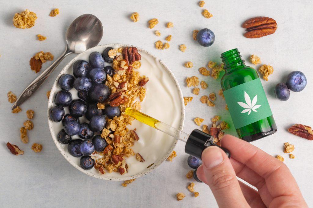 cbd oil yogurt bowl for weed edibles