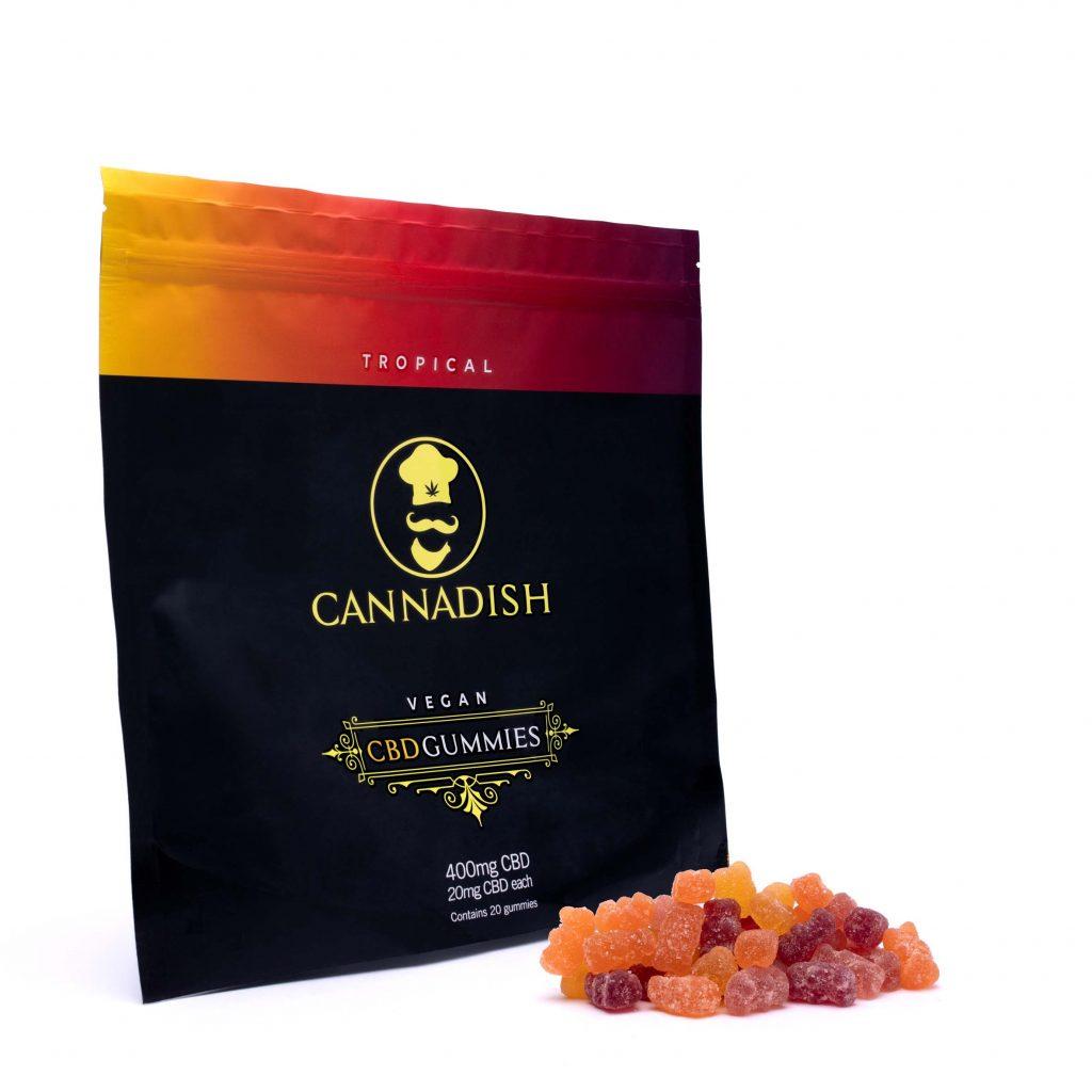 Cannadish CBD Gummies with Tropical Flavor