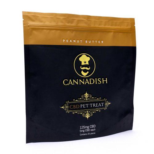 Cannadish Peanut Butter Pet Treats 5mg CBD