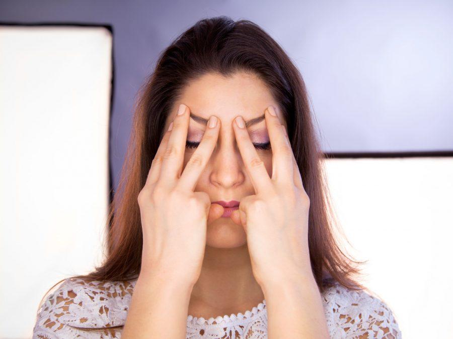 facial yoga using cbd oil