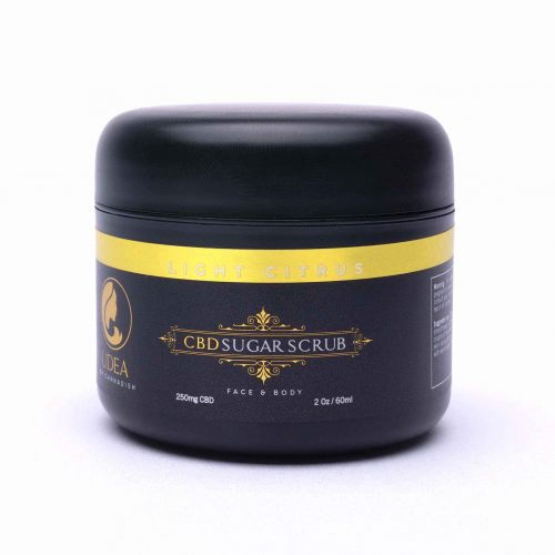 250mg CBD Sugar scrub With citrus jar