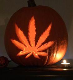 Weed Pumpkin Halloween