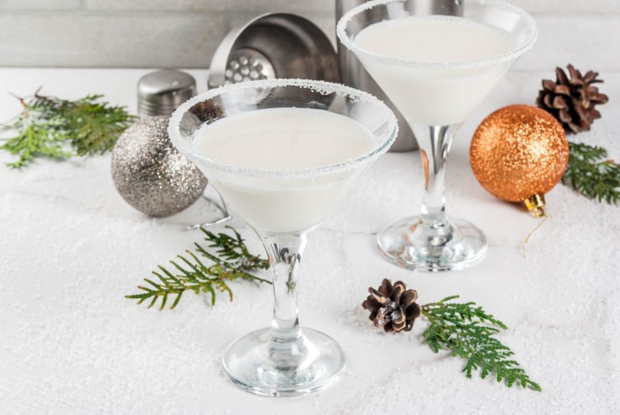 Snowflake-weed-martini